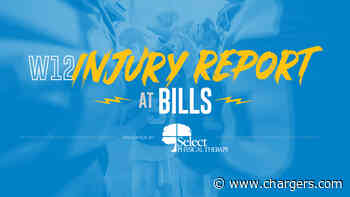 Buffalo Bills vs Los Angeles Chargers Injury Report Week 12 - Chargers.com