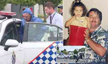 Gold Coast man accused of killing neighbour because of birds is taken away in forensic suit