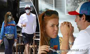 Isla Fisher and Sacha Baron Cohen are spotted in Sydney's Bondi