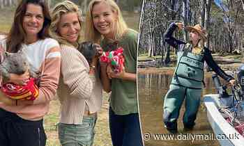 Elsa Pataky continues her Apple Isle adventure as she cuddles up to an adorable baby wombat