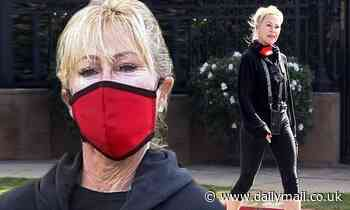 Melanie Griffith stays fit as she takes brisk morning walk through her neighborhood in Beverly Hills
