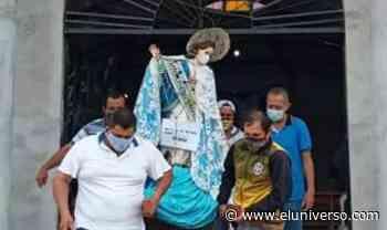 En Tosagua se iniciaron festividades patronales; imagen de Virgen fue cubierta con mascarilla - El Universo
