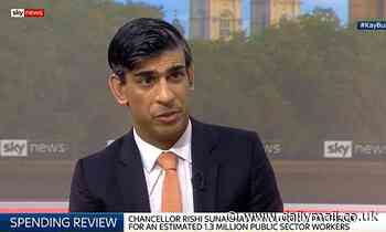 Rishi Sunak says public sector had a 'pay premium' BEFORE coronavirus hit
