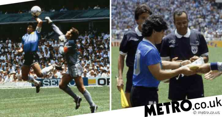 Referee who missed 'Hand of God' pays tribute to 'genius' Diego Maradona