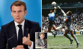 France's President Macron praises Diego Maradona