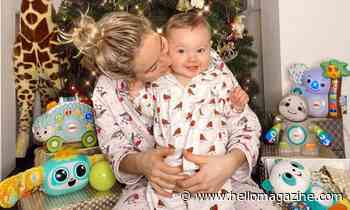 Lydia Bright and daughter Loretta adorably twin in Christmas pyjamas