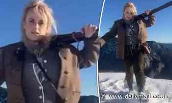Rebel Wilson hits the slopes in Austria and has a Sound of Music moment