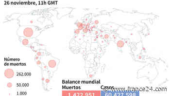 Balance mundial de la pandemia de coronavirus el jueves a las 11H00 GMT - FRANCE 24
