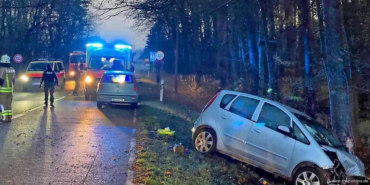 Herzberg: Frau prallt mit Auto gegen Baum und muss ins Krankenhaus - Märkische Allgemeine Zeitung