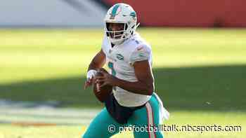 Dolphins are not too worried about Tua Tagovailoa's thumb