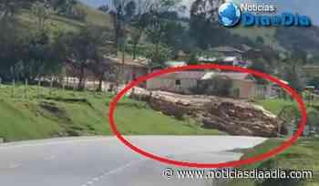 Gigantesco deslizamiento de lodo bloquea Autopista Norte en Chocontá, Cundinamarca - Noticias Día a Día
