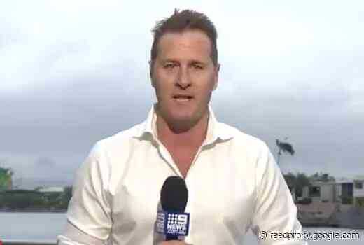 Weatherman's car stolen during live cross