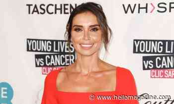 Christine Lampard's ravishing red Mango dress features the chicest print
