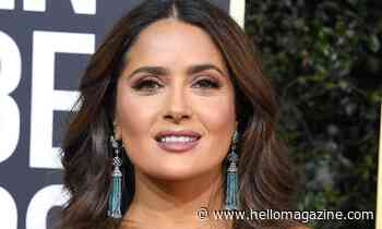 Salma Hayek embraces her grey hair in stunning holiday photo