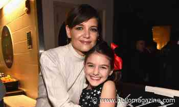 Katie Holmes looks unrecognisable with a fringe in throwback Thanksgiving post