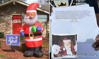 Arkansas man told to remove inflatable black Santa in racist letter