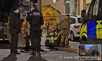 Bomb squad use robot to investigate suspicious package in Blackpool
