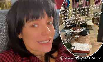 Lily Allen cooks Thanksgiving meal for David Harbour in London