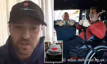 Justin Timberlake gifts disabled teen with a $35,000 wheelchair-accessible van