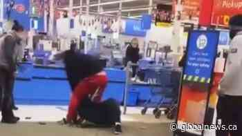 Video appears to Dawson Creek Walmart employee assaulted after asking someone to wear a mask