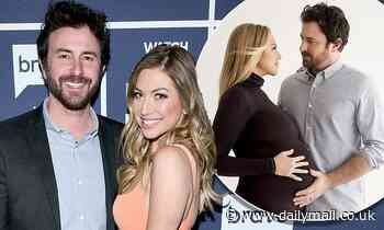 Stassi Schroeder caresses her bump in tender snap with husband Beau Clark