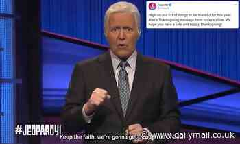 Jeopardy! airs Alex Trebek Thanksgiving message taped before he died