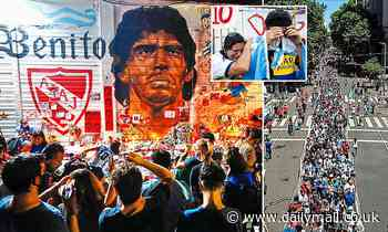 Mass for Maradona:Thousands of fans line the streets as city of Buenos Aires pays its last respects