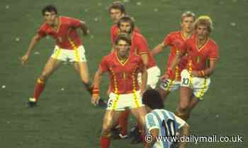 MARTIN SAMUEL: Image of Diego Maradona surrounded by Belgium players in 1982 sums up the man
