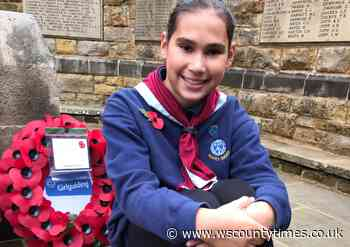 11-year-old Horsham girl runs 10km for Poppy Appeal and gets wreath laid on Remembrance Day - West Sussex County Times