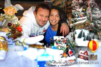 Horsham town centre store designs festive window display to cheer people up - West Sussex County Times