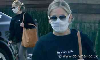 Sarah Michelle Gellar goes for a morning  workout near her home in Los Angeles