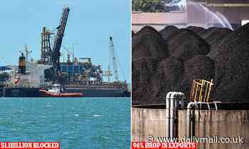Australia's coal flotilla off coast of China now carrying blacklisted cargo worth $1.1BILLION