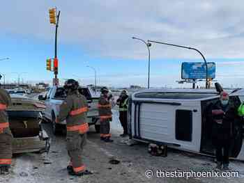 Firefighters respond to collision on Circle Drive