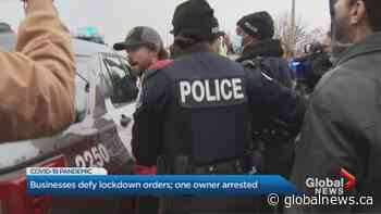 Coronavirus: More protests as Toronto small business owners rally against lockdown measures   Watch News Videos Online - Globalnews.ca