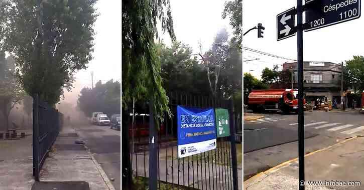 Feroz incendio en una fábrica de Villa Martelli: al menos diez dotaciones de bomberos trabajan en la zona - infobae