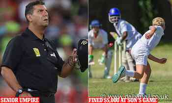 One of Australia's most senior cricket umpires cops $5,000 fine arguing call at his son's game