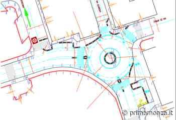 """Zone 30 a Desio: parte il tracciamento della rotatoria """"sperimentale"""" in via Guarenti - Prima Monza"""