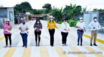 Pavimentación mixta transforma la vida de habitantes de la Colonia Santa Barbara: Ayuntamiento de Tapachula. - ChiapasHoy