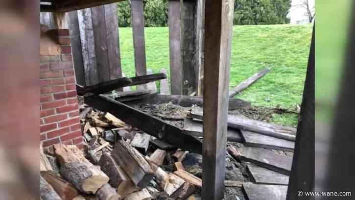 Historic Old Fort park damaged in hit and skip crash