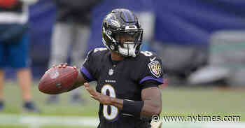 Lamar Jackson, Ravens Quarterback, Is Said to Test Positive for Coronavirus - The New York Times