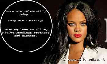 Rihanna sends her love to 'mourning' Native Americans during the Thanksgiving holiday