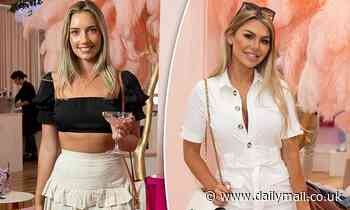 Former Bachelor stars Bec Cvilikas and Kiki Morris attend boohoo's Black Friday suite in Sydney