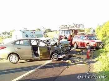 Morrem três das cinco vítimas de acidente em rodovia de Duartina - G1