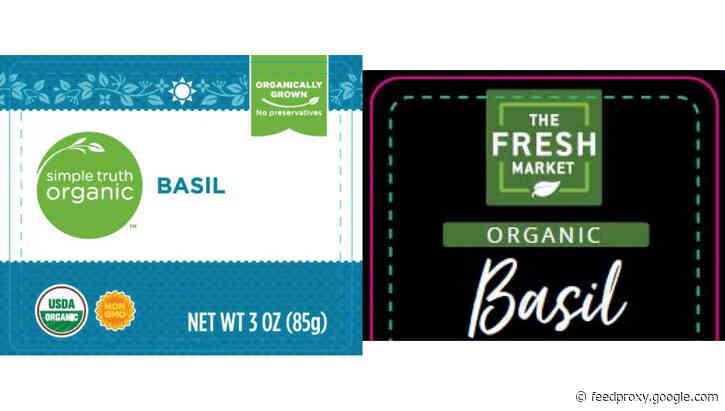 Company recalls 8 brands of fresh, organic basil because of Cyclospora