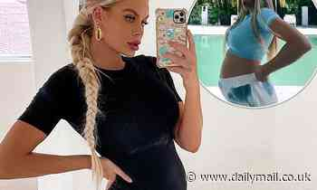 Pregnant Big Brother star Skye Wheatley shows off her baby bump during hilarious dance challenge