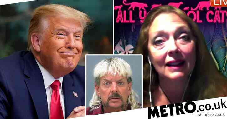 Carole Baskin urges Donald Trump not to pardon Joe Exotic over hire-to-murder charge and shooting five tigers dead