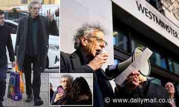 Piers Corbyn, 73, arrives at court to stand trial for 'breaching Covid rules'