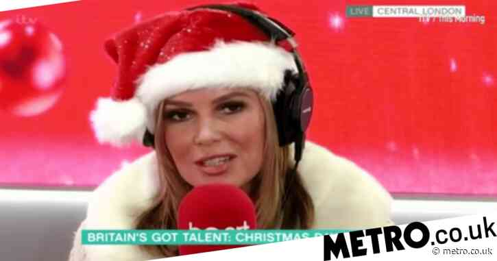 Amanda Holden reveals Simon Cowell is 'fighting fit' and will be back filming Britain's Got Talent in January after breaking back