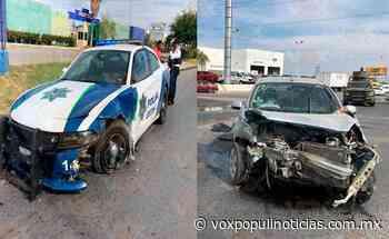 Choca patrulla de la Policía Estatal en Nuevo Laredo - Vox Populi
