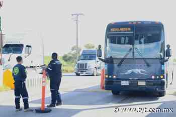 Instalan filtros sanitarios en el puente internacional 2 de Nuevo Laredo - Revista Transportes y Turismo